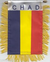 Chad Flag Hanging Car Pennant for Car Window or Rearview Mirror