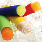 New BPA-Free Silicone Ice Cream Pop Popsicle Mold Set w/Lids  1 each of 4 colors