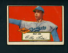 1952 Topps # 20 Red Back Billy Loes Rookie Brooklyn Dodgers (five)