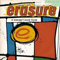 """ERASURE - IT DOESN'T HAVE TO BE - 1987 - 7"""" VINYL PS MUTE"""