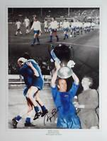 Bobby Charlton 1968 Manchester Utd signed Photo Proof European Cup Winners