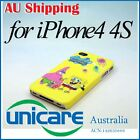 Cartoon SpongeBob SquarePants Hard Back Skin Case Cover For iPhone 4 4G 4S 14
