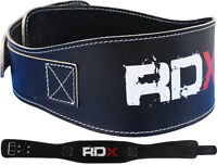 """RDX Weight Lifting 5.5"""" Leather Pro Belt Back Support Strap Gym Training Fitness"""
