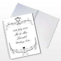 Personalised Wedding A5 Notebook Gift Idea Wedding Planner Organiser - P0512G93