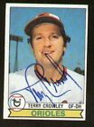Terry Crowley #91 signed autograph auto 1979 Topps Baseball Trading Card