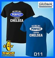 CHELSEA T SHIRT Not Only Perfect football sport fc funny T SHIRT small to 5XL