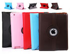 Smart Cover Case Stand 360°Rotate PU Leather Skin for Apple iPad 4 iPad3 iPad2