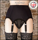 6 Strap Luxury Suspender Belt Black (Garter Belt) *FREE SHIPPING*