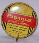 Vintage 1947 Paradize Closet Hanger Tin with Hook Kills Moths and Eggs NICE!