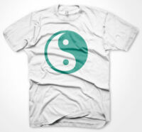 Mens Funny Tshirts Ying Yang White T-Shirt Various Sizes