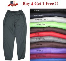 NWT MENS FLEECE 3 POCKET LONG SWEATPANTS GYM WORKOUT LOUNGE S M L XL 2X 3X 4X 5X
