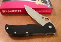 SPYDERCO New Black G-10 Handle Starmate With Plain Edge VG-10 Blade Knife/Knives