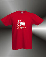 PERSONALISED FARM TRACTOR - ANY NAME  FUN T-SHIRT - ALL SIZES / COLOURS