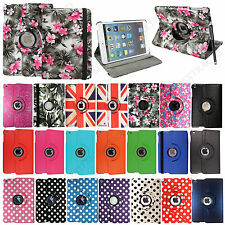 For Apple iPad Mini Tablet PU Leather New Smart Printed 360° Case Cover + Stylus