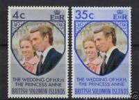 British Solomon Islands 1973 Royal Wedding MNH Set