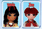ROSIE and JIM pair of FRIDGE MAGNETS - SO COOL!