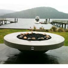 """Dreffco 60"""" Round Custom Fire Pit with CSA Approved Burner & Fire Glass NG-LP"""