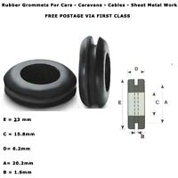 """20mm 3/4""""  50 PCS RUBBER AUTOMOTIVE CABLE WIRING OPEN GROMMETS RING ELECTRICAL"""