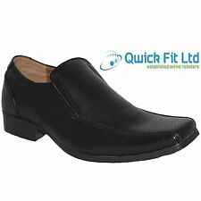 MENS SMART SHOES WEDDING ITALIAN FORMAL OFFICE WORK BLACK DRESS SLIP ON SIZES
