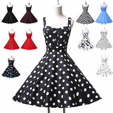 Vintage Swing 50's Housewife pin up Dresses Rockabilly Retro Party evening Dress