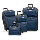 NEW Travel Select by Traveler's Choice TS6950 Amsterdam 4-piece Luggage Set BLUE