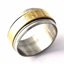 Yellow/White Stainless Steel Mens Band Ring Size 7,8,9,10,11,12#  A1643- A1648