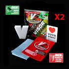 V2 SPONGE MOTORCYCLE HELMET VISOR CLEANER KIT TWIN PACK