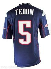 Nike Tim Tebow #5 New England Patriots Game Jersey NAVY HOME $100 Football RARE!