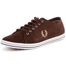 Fred Perry Kingston B4268 Mens Suede Dark Chocolate Trainers New Shoes All Sizes