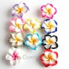 New 40pcs Mixed Flower Fimo Polymer Clay Spacer Bead 20mm G520