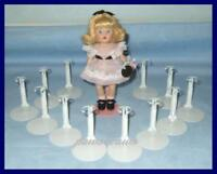 """12 White Kaiser Miniature Doll Stands for 5-1/2"""" MINI GINNY U.S. Ships Free"""