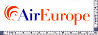 AIR EUROPE ITALY AGENT DEFUNCT AIRLINE STICKER ~V RARE~