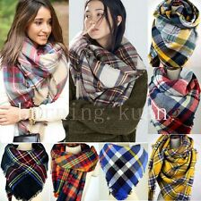 Cozy Blanket Oversized Soft Large Tartan Checked Plaid Scarf Wrap Shawl Cape Hot