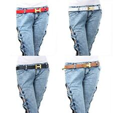"""Unisex Hot Fashion chic 5 color Leather """"H"""" Buckle Waistband LNC"""