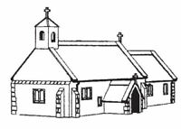 Dapol C29. Village Church - Plastic Kit. (00) Railway Model