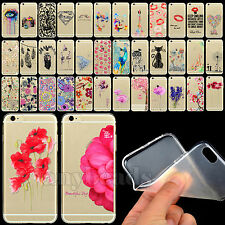 Thin Cute Pattern Transparent Soft Silicone TPU Case Cover for iPhone4 4S 5 5S 6