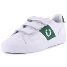 Fred Perry Sturgess B6266 Mens Leather White Green Trainers New Shoes All Sizes