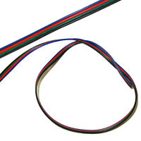 2m meter RGB LED cord 4pin Extension cable flexible wire for SMD 3528 5050 Strip