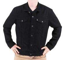 NEW LEVI'S MEN'S PREMIUM COTTON BUTTON UP DENIM JEANS JACKET BLACK 723350013