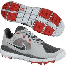 New Nike TW '14 2014 Tiger Woods Mesh Mens Golf Shoes Grey/Red/Black - Pick Size