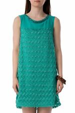 Hidden Fashion Womens Ladies Lace Panel Dress In Teal