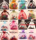 30/100 PCS Organza Bags Jewelry Pouches Wedding Favor Xmas Gift Candy Bags