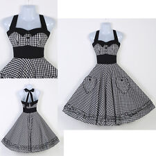 Vestido Vintage Style Rockabilly Swing 50's 60s pinup Housewife Prom Party Dress