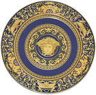 Rosenthal Versace Medusa Blue 4 PIECES Service Plate Charger 12