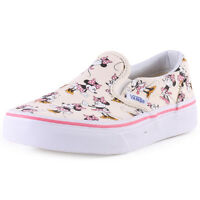 Vans Classic Disney Mickey Minnie Kids Canvas Cream Trainers New Shoes All Sizes