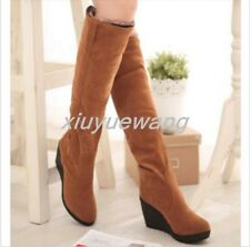 new womens non-slip rome casual shoes winter wedge platform boots size