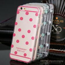 Polka Dot Silicon Soft Transparent Gel Cover Phone Cases For iPhone 4 5 6s Plus