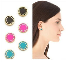 FREE New fashion Marc by M Jacobs 7 colors Letters Disc Stud Earrings