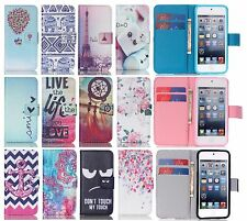 Colorful Fashion PU Flip Wallet Stand Leather Case Hybrid Cover For iPod Touch 5