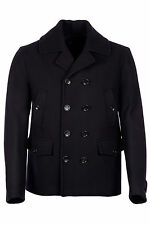 GUCCI MEN'S DOUBLE BREASTED COAT OVERCOAT NEW BLUE 185